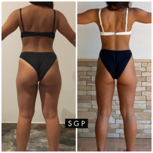 Body tranformation prima e dopo SGProgram by Selene Genisella